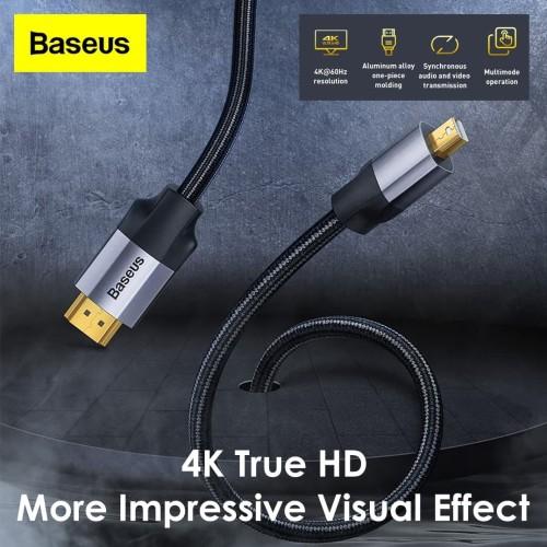 Foto Produk BASEUS Adapter Cable Mini DP Male to HDMI 4K Male Kabel Projector dari Gadget Factory
