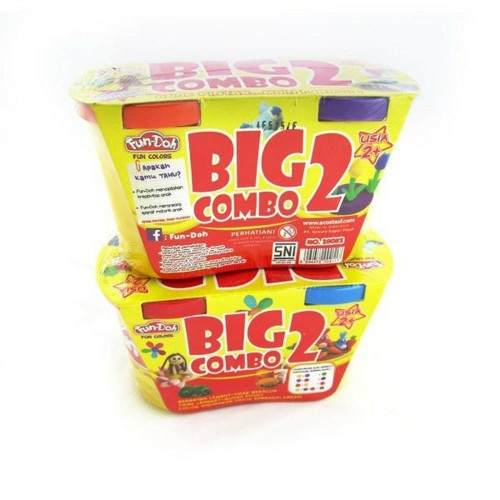Foto Produk refill lilin Fun doh BIG COMBO 2 isi ulang lilin mainan fundoh dari Howell toys