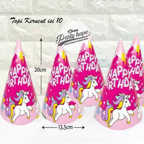 Foto Produk Topi Ulang Tahun unicorn 2 / Topi Pesta unicorn 2 / topi ultah kerucut dari PARTY HOPE 2