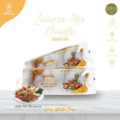 Foto Produk Mie Instant Sehat Sorgum Gluten Free Zahina Mix Noodle Unis Gluten Fre dari Kantin Organik