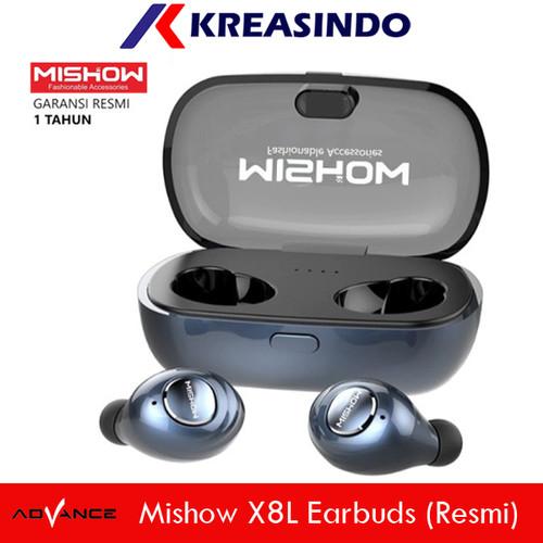 Foto Produk Mishow TWS X8L Earpods Earbuds Earphone Wireless Bluetooth Resmi dari Kreasindo Online