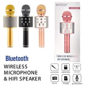 Foto Produk GET CASHBACK MIC WSTER WS 858 Wireless Bluetooth Karaoke + Speaker dari DODO TOKO