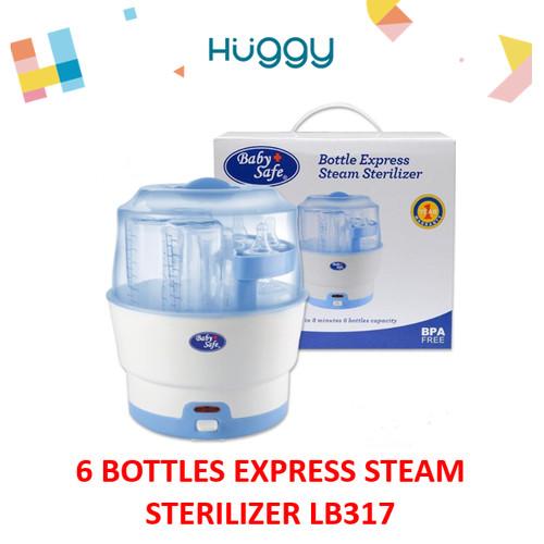 Foto Produk Baby Safe LB317 Bottle Express Steam Sterilizer Alat Steril - No Bubblewrap dari Huggy Baby