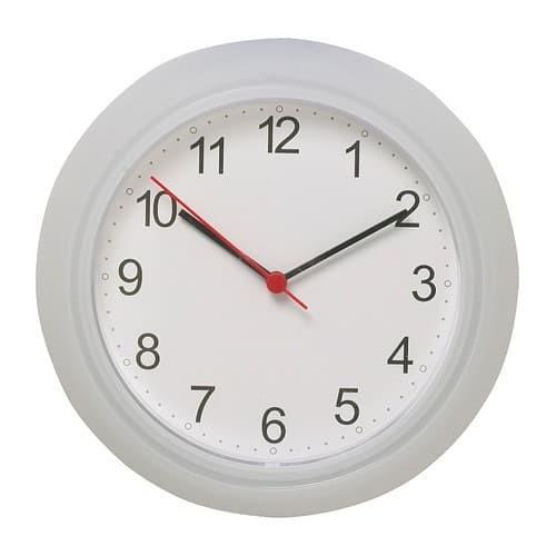 Foto Produk IKEA RUSCH - Jam dinding elegan warna putih dari Loppin Shop