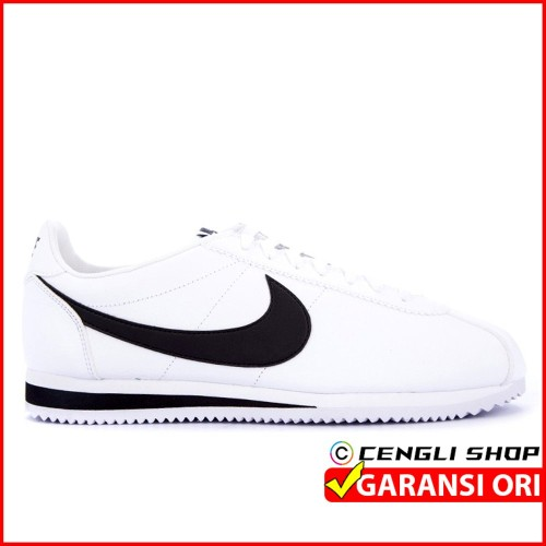 Foto Produk Sepatu NIKE Putih Hitam Original Classic Cortez Kulit dari Faridan11
