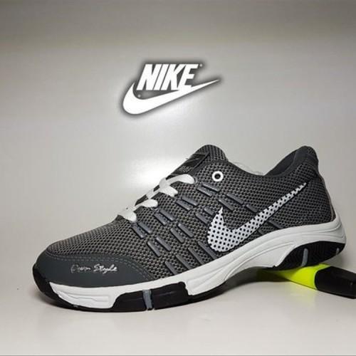 Foto Produk sepatu casual nike badminton abu - sport pria murah light grey dari Rafeyfa11