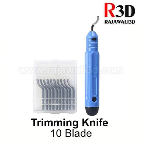 Foto Produk High quality trimming knife 10 blades Stainless Steel dari Rajawali 3D