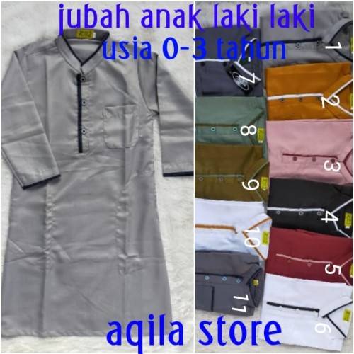 Foto Produk baju gamis jubah arab anak laki-laki usia 0-4 thn dari widy aqila store