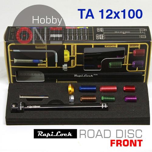Foto Produk Rapi Lock Axle 105 - TA Depan Universal Road Bike Disc Brake 12x100 dari HobbyOne