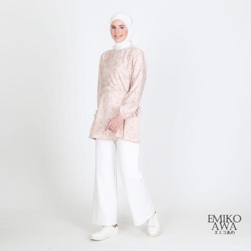 Foto Produk Baju Atasan Tunik Wanita Manohara - Emikoawa Premium Busui Friendly - CREAM dari emikoawa