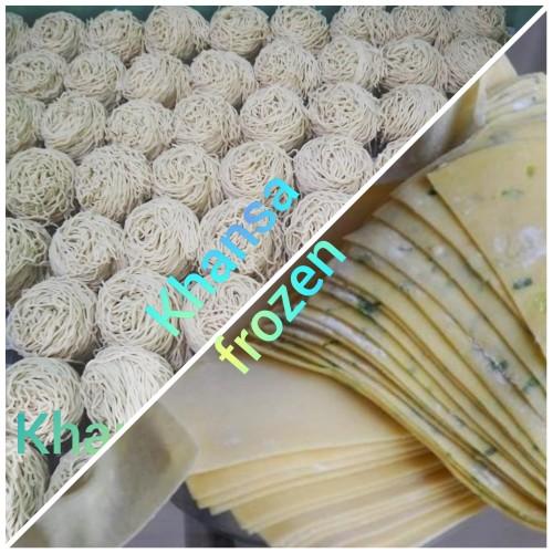 Foto Produk Mie + pangsit. Mie ayam Mentah paket coba2. - STANDART dari Khansa Frozen