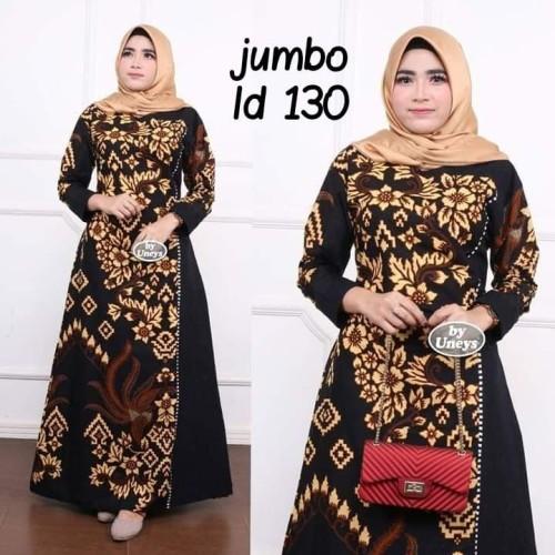 Foto Produk Baju dress gamis wanita super jumbo ld 130 batik kombinasi motif dari TABASAMA