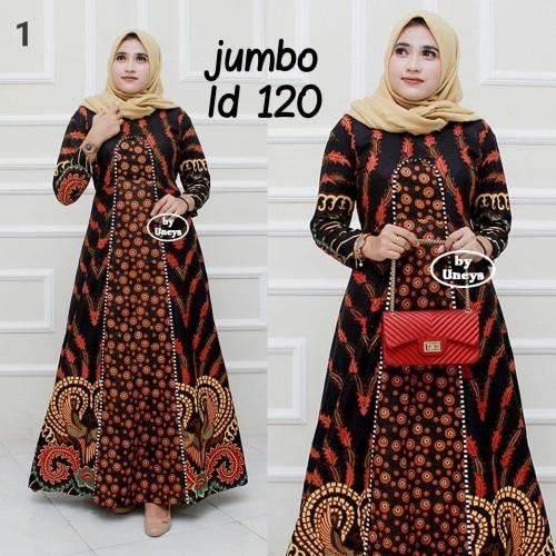 Foto Produk Baju wanita dress gamis jumbo ld 120 batik katun kombinasi dari TABASAMA