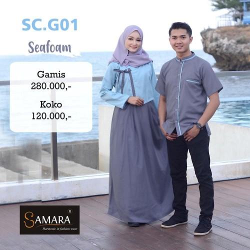 Jual Terlaris Baju Gamis Couple Pasangan Lebaran 2020 Sarimbit Seragam Jakarta Barat Toko Senjust Tokopedia