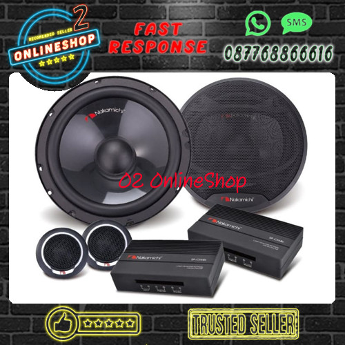 Foto Produk Nakamichi SP-CS68S Speaker split 6.5 inch Sp cs68s Speaker mobil murah dari O2 OnlineShop