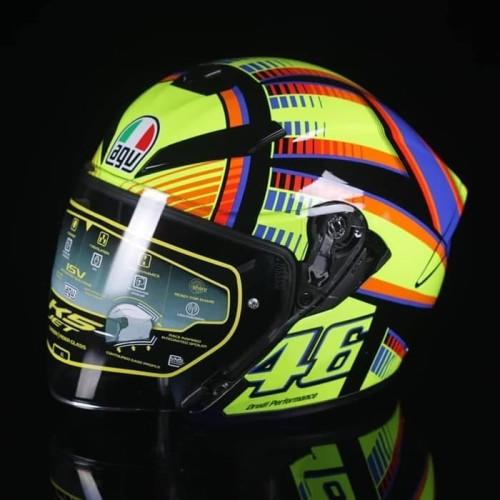 Jual Helmet Agv K5 Jet Rossi Soleluna 2015 Open Face Kota Surabaya Wahana Helm Tokopedia