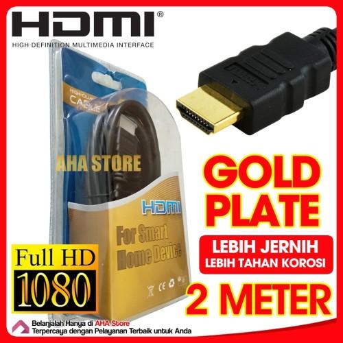 Foto Produk AHA HDMI to ke HDMI Ultra High Speed Cable Gold Plated Kabel 2 Meter dari AHA Store Official