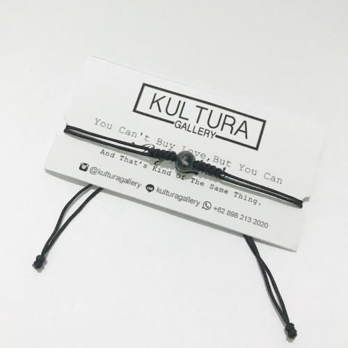 Foto Produk Gelang Batu Hitam Simple ( Gelang etnik / Gelang batu / Gelang tali ) dari Kultura Gallery