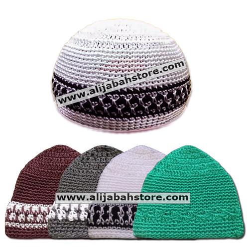 Foto Produk Kopiah Peci RAJUT NILON MOTIF dari Grosir Al Ijabah Store