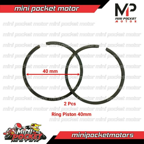 Foto Produk Ring Piston 40 mm Motor Mini Trail / Mini GP Standart dari Mini Pocket Motor