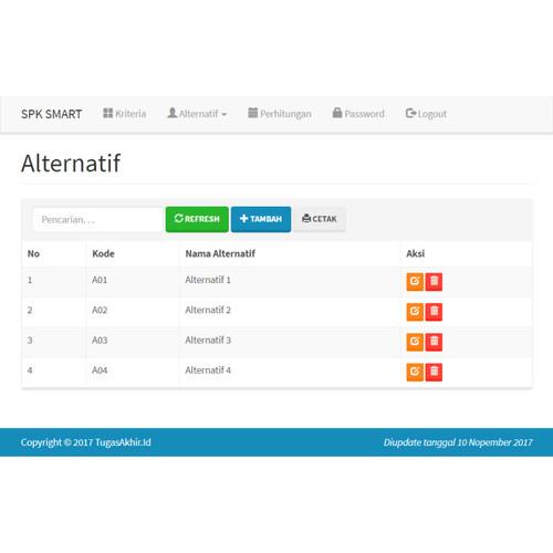 Foto Produk Source Code SPK Metode SMART PHP dari Rumah Source Code