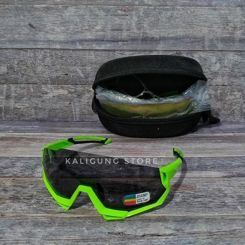Foto Produk ORIGINAL Kacamata sepeda ROCKBROS model mirip Flight Jacket dengan 5 - Hijau dari Kaligung