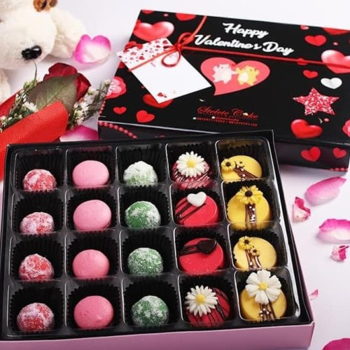 Jual Kado Valentine Cookies Macaron Coklat Bunga Asli For Him Jakarta Barat Farhanmujib Tokopedia