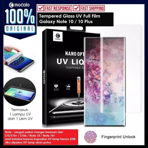 Foto Produk Tempered Glass Galaxy Note 10 Plus / Note 10 Full Cover UV Glue Mocolo - Note 10 Plus dari Unicase Store