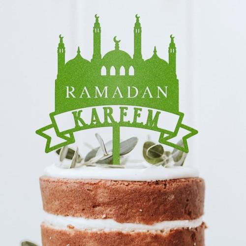 Jual Ramadan Kareem Dan Selamat Idul Fitri Dan Eid Mubarak Cake Topper S Kota Tangerang Selatan Merveille Shop Tokopedia