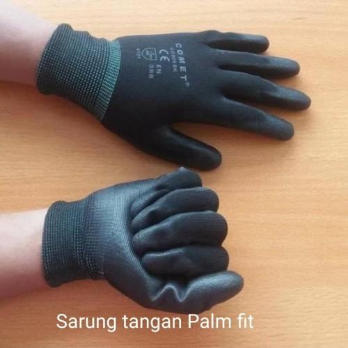 Foto Produk Sarung tangan Palm fit glove comet CG 805 BK Hitam Size S M L XL XXL - Hitam, L dari AALI