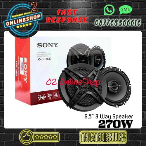 Foto Produk SONY XS-GTF1639 Speaker coaxial Sony xs gtf1639 3 way 6.5inch Audio dari O2 OnlineShop