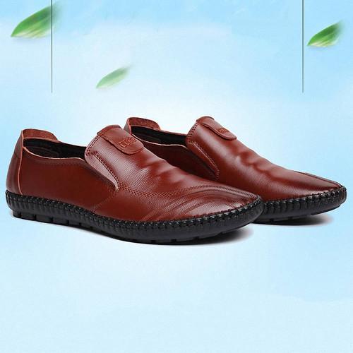 Foto Produk Techdoo Sepatu Pantofel Pria Sepatu Kulit Formal untuk Kerja MC403 - Cokelat, 42 dari Techdoo