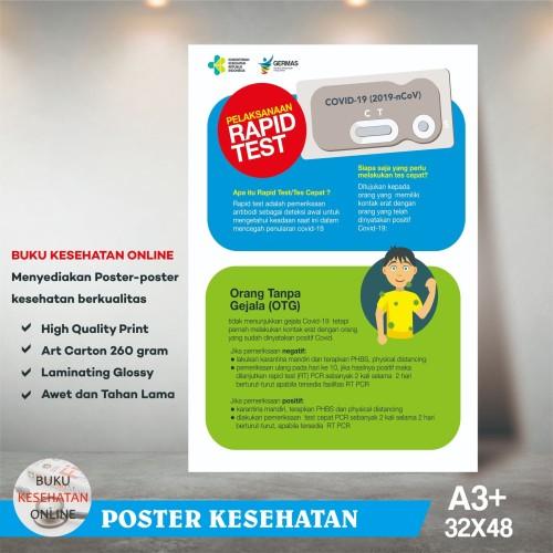 Foto Produk Poster Kesehatan PELAKSANAAN RAPID TEST - LAMINATING GLOSSY dari Buku Kesehatan Online
