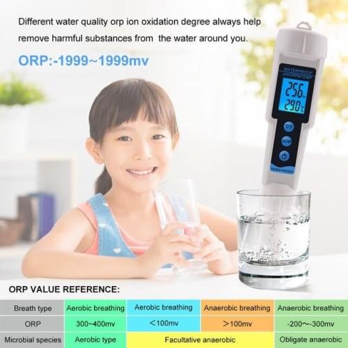 Foto Produk ORP PH Temperature Meter 3 in 1 ORP-3569 Tester Water ORP3569 Kangen dari HRDIK