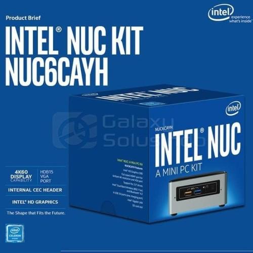 Foto Produk Intel NUC 6CAYH Intel CELERON FULL SET dengan pilihan HDD SSD RAM DOS dari refan store678