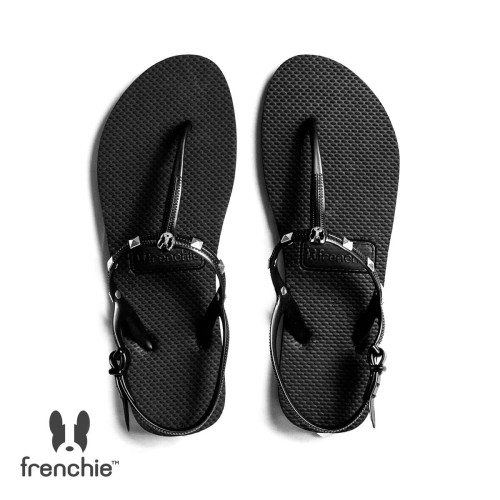 Foto Produk Sandal Wanita Frenchie Slipper Strappy Rockstud All Black SFR02 - 36 dari FRENCHIEWAY