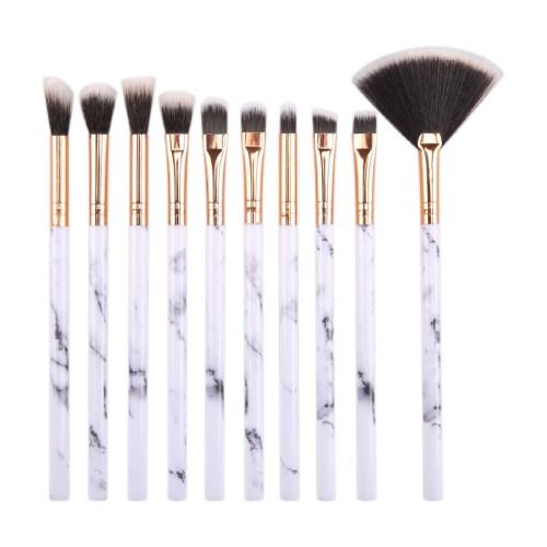 Jual 10 Marble Eye Brushes Makeup Brush