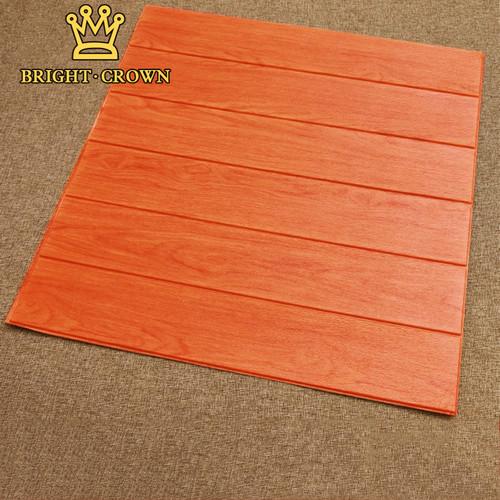 Foto Produk (KK) WALLPAPER 3D FOAM MODEL KAYU Uk 70 x 70cm x 7mm /Pcs - KAYU MERAH dari Kerajaan karpet