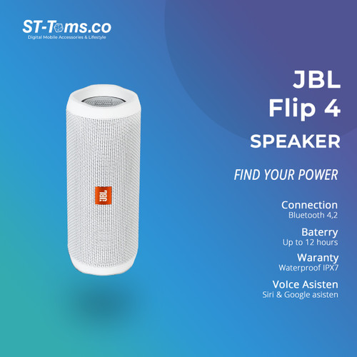 Foto Produk JBL Bluetooth Speaker Flip 4 - Black - Putih dari ST-Toms.co