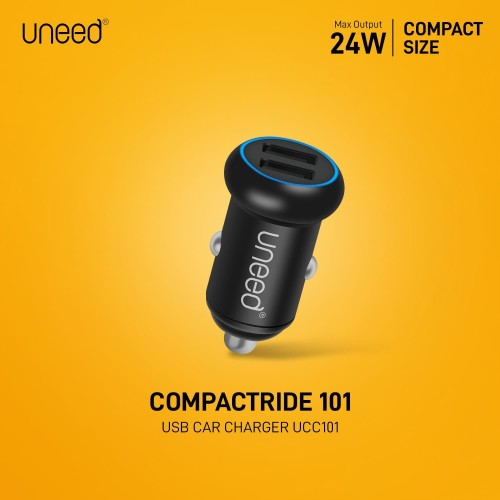 Foto Produk UNEED Smart Car Charger CompactRide 101 Dual USB Port – UCC101 dari Uneed Indonesia