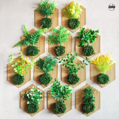Foto Produk Tanaman Artificial Dinding Vertical Garden Daun Rumput Plastik M 20x15 dari sissshop