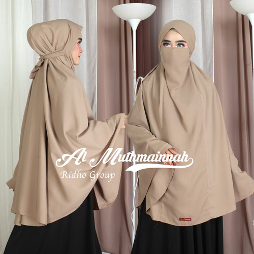 Foto Produk FRENCH KHIMAR SYAR'I BAHAN WOLFIS ADEM XXL - Milo dari Muth'mainnah Hijab