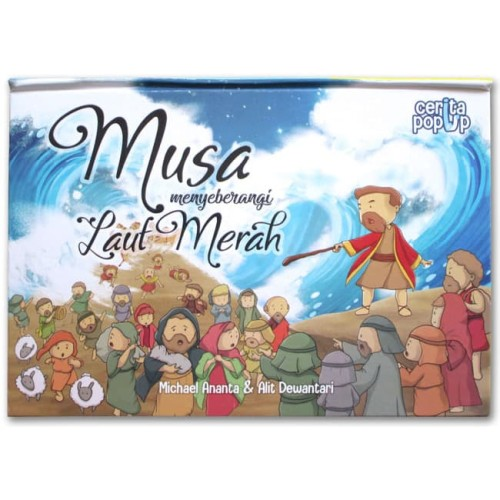 Foto Produk Buku Pop-Up Cerita Alkitab Musa Menyeberangi Laut Merah dari HappyBunnyBooks