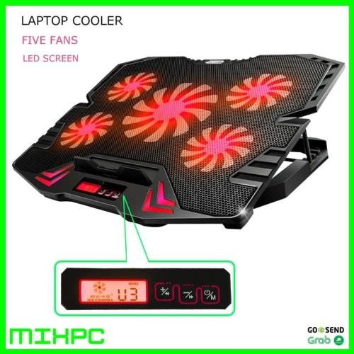 Foto Produk ICE FAN Cooling Pad Laptop 5 Kipas K5 - Biru dari mixpc