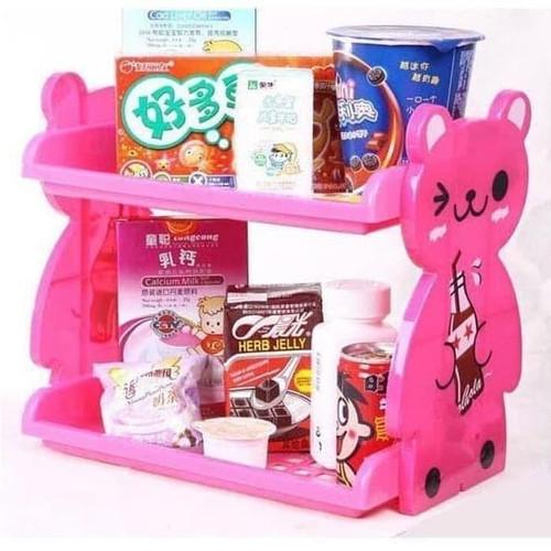 Foto Produk Rak Serbaguna 2 Susun Tempat Sabun Kosmetik Dapur Kamar Mandi Kue Anak dari BEST SHOP GROSIR