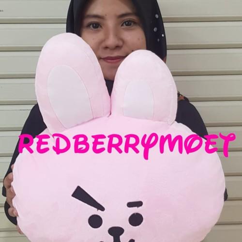 Foto Produk bantal BTS BT21 KPOP bantal bonek bts - Merah Muda dari redberrymoet