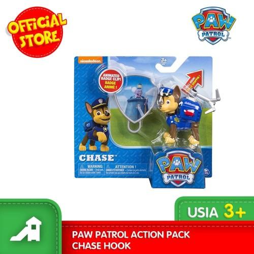 promo mainan figur paw patrol action pack chase hook