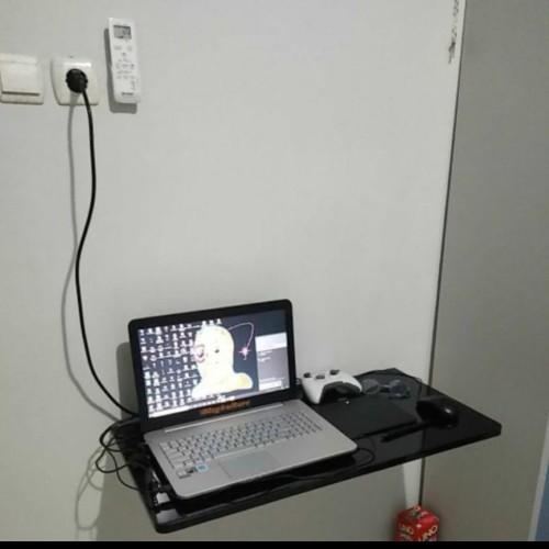 Foto Produk Meja lipat dinding/meja lipat/meja gantung,meja hpl P 60cm X L 40cm - Hitam dari Sokho