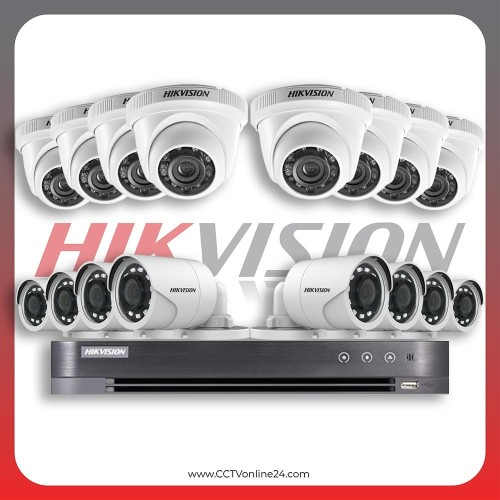 Foto Produk Paket Pemasangan CCTV Hikvision 16CH 1080P (2MP) dari CCTVonline24