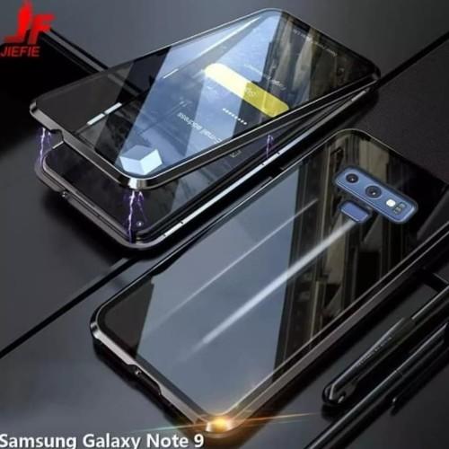 Foto Produk case magnetic samsung note 9 double glass kaca depan belakang dari shalom cell